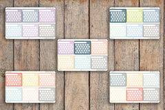 6 Striped A5 FLEX One Month Habit Tracker Hexagon Checkbox Weekly Focus Stickers for 2018 inkWELL Press Planners IWP-L21