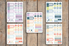 32 Road Trip Sampler, Vacation, Travel, Gas, Hotel, Suitcase, Meal, Trip Tag Planner Stickers for 2018 inkWELL Press Planners IWP-Q97