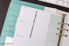 54 Arrow Divider Strips, Column Divider Stickers for 2018 inkWELL Press Planners IWP-L23