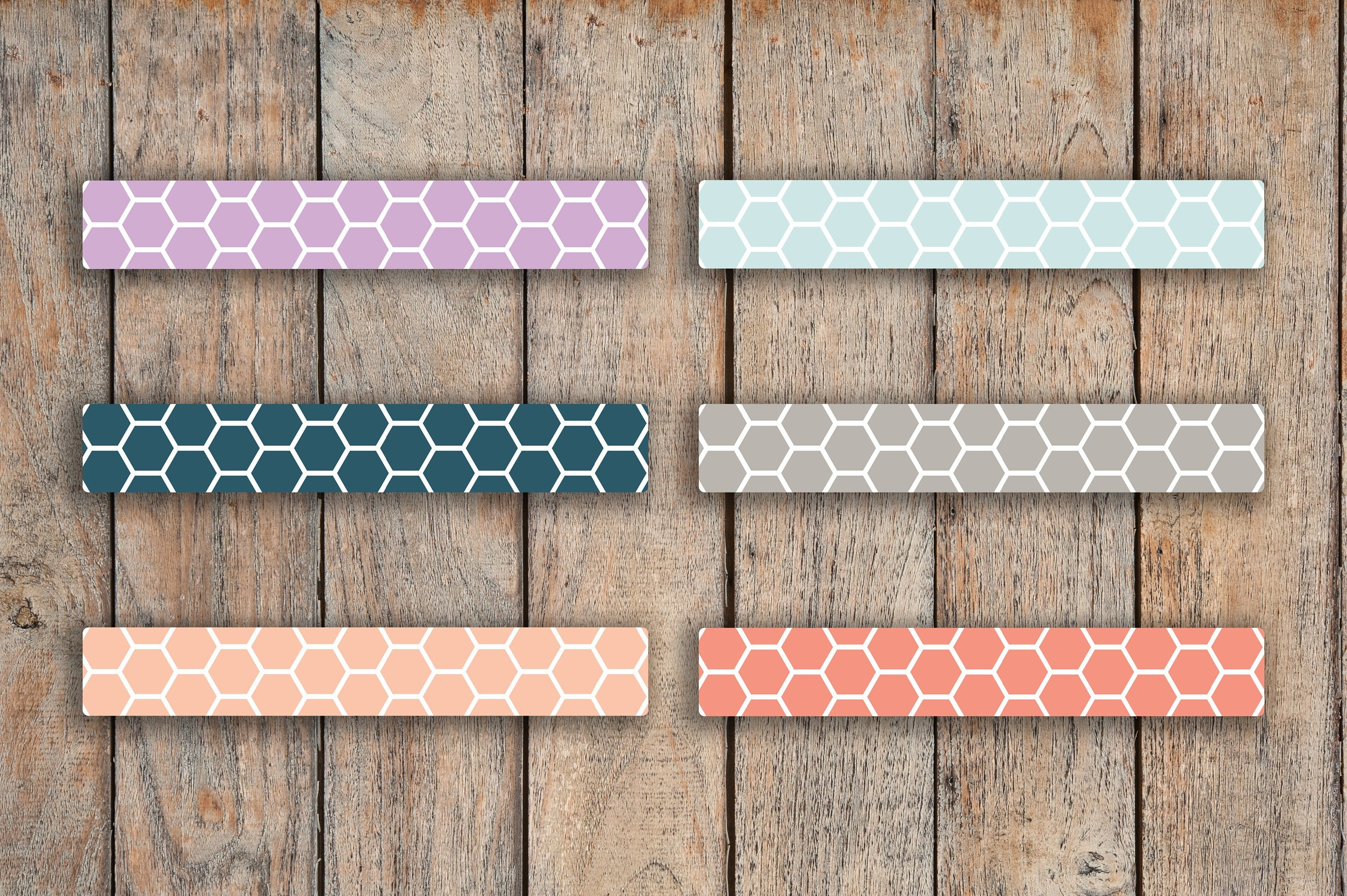 56 Bound & A5 CLASSIC Hexagon Divider Strips Stickers for 2018 inkWELL Press Planners IWP-L39