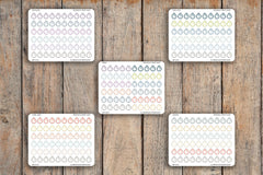 60 Clock, Alarm, Reminder, Timer, Workout Tracker Icon Planner Stickers for 2018 inkWELL Press Planners IWP-Q101