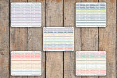 24 Early Dismissal, Short School Day Planner Stickers for 2018 inkWELL Press Planners IWP-Q126