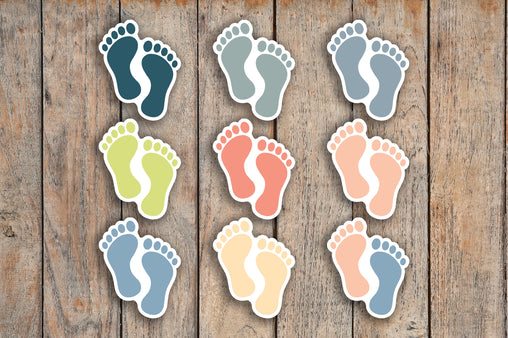 42 Baby Feet, Children's Feet, Footprint, Baby Needs, Nurse Shift Icon Planner Stickers for 2018 inkWELL Press Planners IWP-Q129