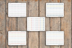 77 Tooth, Dentist, Floss, Dental Appointment Icon Planner Stickers for 2018 inkWELL Press Planners IWP-Q143