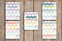 18 Striped Large Hexagon Label Planner Stickers for 2018 inkWELL Press Planners IWP-Q58