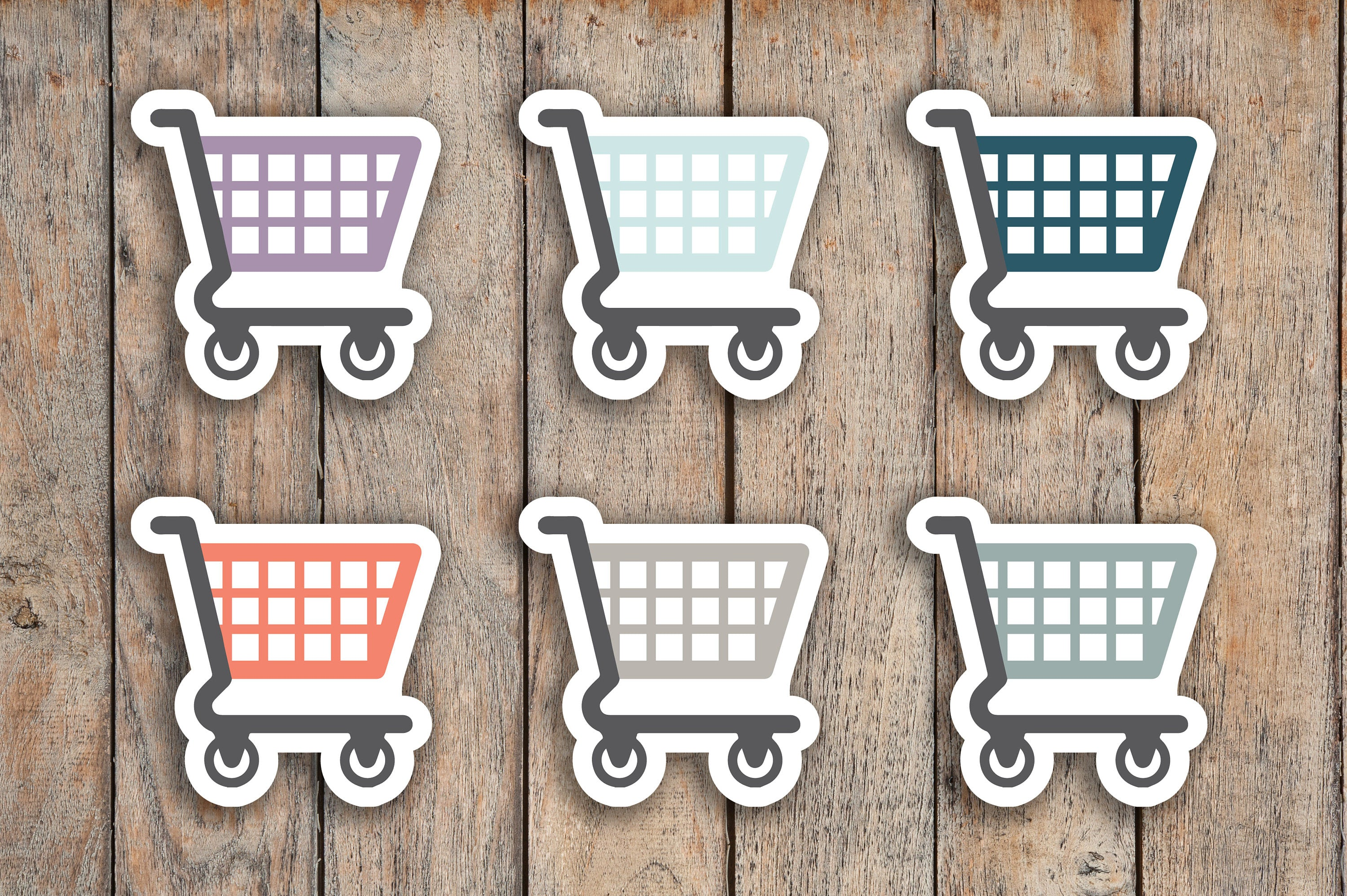 63 Grocery, Shopping Cart, Food Shopping, Groceries Icon Planner Sticker for 2018 inkWELL Press Planners IWP-Q63