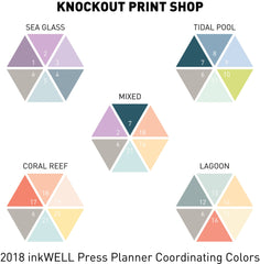 21 Solid Blank Scallop Half Box Planner Stickers for 2018 inkWELL Press Planners IWP-L35