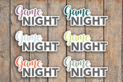 24 Game Night, Family Fun Time Header Planner Stickers for 2018 inkWELL Press Planners IWP-Q160