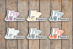 24 Mop Floors, Cleaning Service, Cleaning Lady, Cleaning, Chore, House Cleaning Icon Stickers for 2018 inkWELL Press Planners IWP-Q168