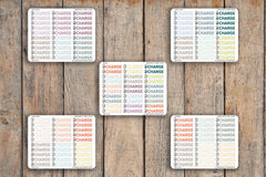 40 Charging, Charge Electronics, Vacation, Don't Forget, Devices Planner Stickers for 2018 inkWELL Press Planners IWP-Q174