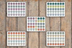 35 Instant Pot, Multi Cooker, Crock Pot,  Meal Plan, Dinner, Food, Lunch Icon Stickers for 2018 inkWELL Press Planners IWP-Q178