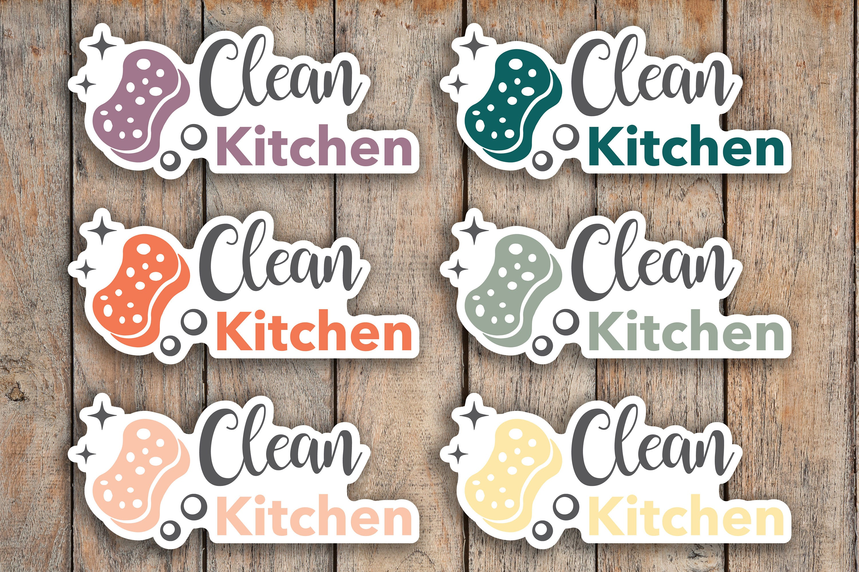28 Clean Kitchen, Kids Daily Chores, Meal Cleanup, Cleaning, Kids Chores Icon Planner Stickers for 2018 inkWELL Press Planners IWP-Q180