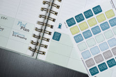 30 Day Off Box, No School, No Work, Vacation Square Planner Stickers for 2018 inkWELL Press Planners IWP-Q183