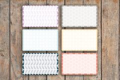 21 Hexagon, Circle & Chevron Geometric Patterned Half Box Planner Stickers for 2018 inkWELL Press Planners IWP-L40