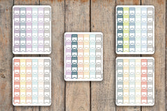 36 Vertical Striped Flag / Half Striped Planner Stickers for 2018 inkWELL Press Planners IWP-Q105