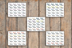 20 Meal Plan, Meal Prep, Dinner & Lunch Planner Stickers for 2018 inkWELL Press Planners IWP-Q110