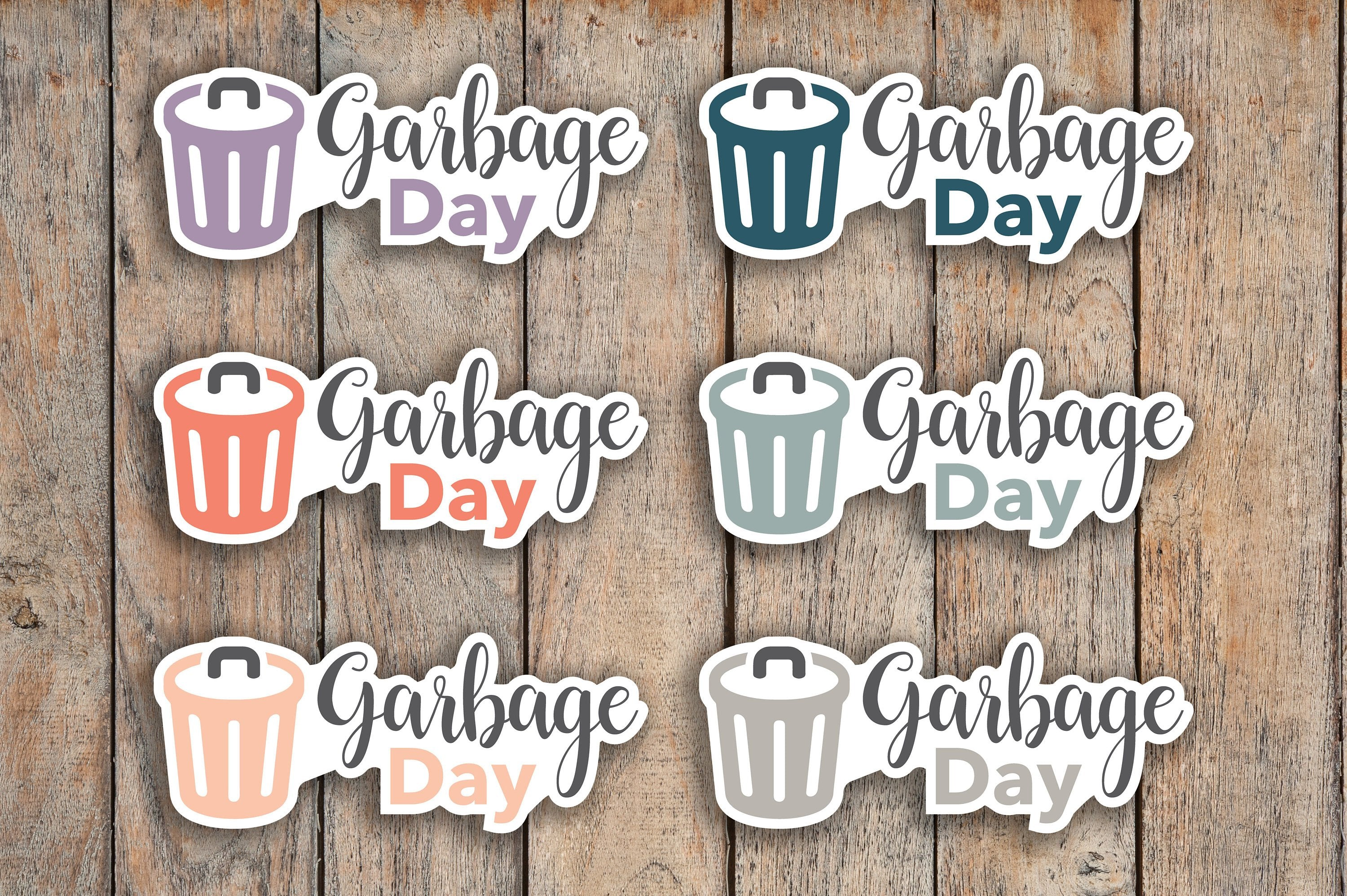 28 Garbage Day, Recycling Day, Trash Icon, Garbage Can, Trash Day, Daily Chore Icon Planner Sticker for 2018 inkWELL Press Planners IWP-Q121