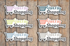 28 Grocery Shopping, Shopping Cart, Daily Chores Icon Planner Stickers for 2018 inkWELL Press Planners IWP-Q122
