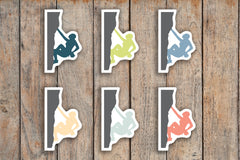 49 Rock Climbing, Mountain Climbing, Rappelling & Belaying Planner Stickers for 2018 inkWELL Press Planners IWP-Q131