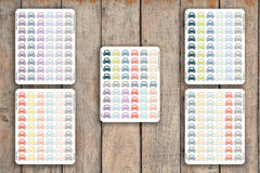 54 Car, Auto, Vehicle, Drive Icon Planner Stickers for 2018 inkWELL Press Planners IWP-Q140