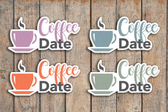 24 Coffee, Coffee Date, Lunch Date, Coffee Time Icon Planner Stickers for 2018 inkWELL Press Planners IWP-Q188