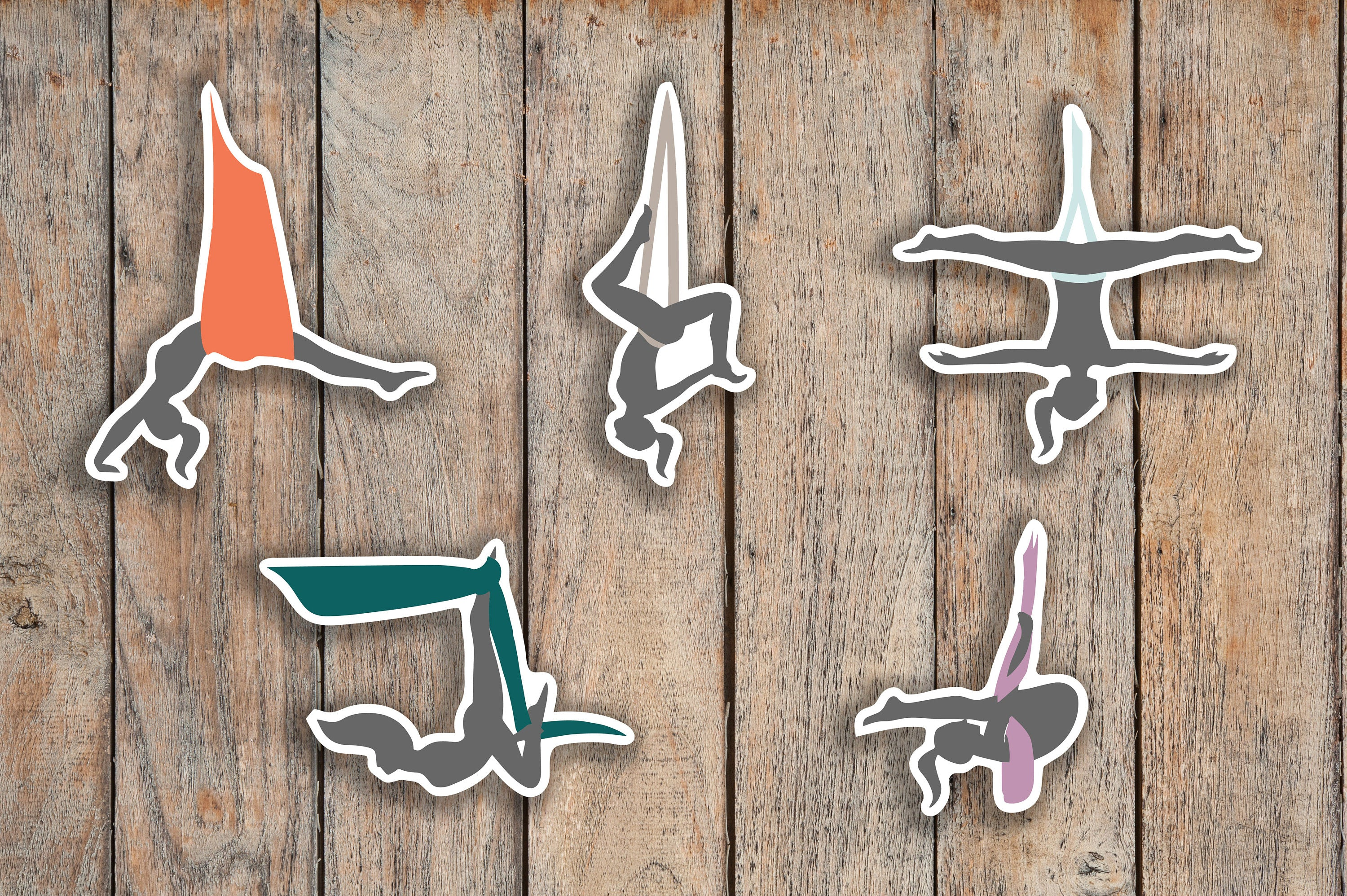 35 Aerial Yoga, Health, Fitness Lotus Icon Planner Stickers for 2018 inkWELL Press Planners IWP-Q219
