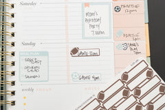 21 Football, Game Day, Sport Label Planner Stickers for 2018 inkWELL Press Planners, Erin Condren, Plum Paper IWP-Q215