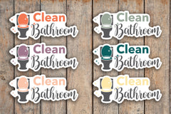 24 Clean Bathroom, Toilet, Bath, Cleaning, Chore, House Cleaning Icon Planner Stickers for 2018 inkWELL Press Planners IWP-Q164