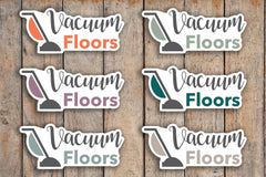 28 Vacuum Floors, Cleaning Service, Cleaning Lady, Cleaning, Chore, House Cleaning Icon Stickers for 2018 inkWELL Press Planners IWP-Q165