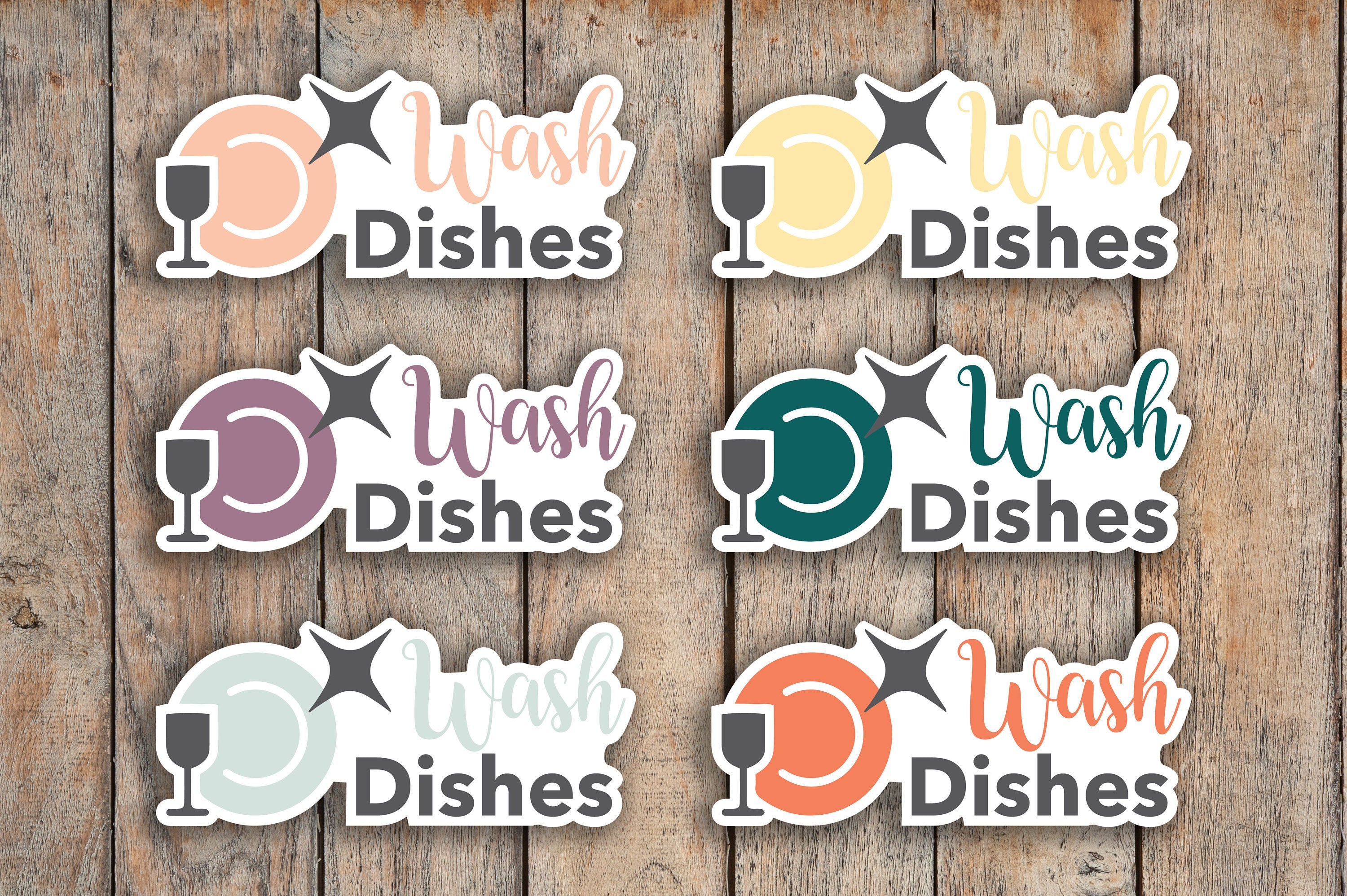 28 Wash Dishes, Kids Daily Chores, Meal Cleanup, Cleaning, Kids Chores Icon Planner Stickers for 2018 inkWELL Press Planners IWP-Q166