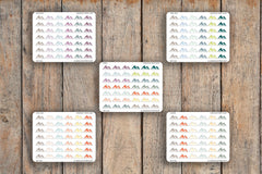 42 Mountain Range, Hiking, Outdoors, Nature, Rock Climbing, Mountain, Rappelling Planner Stickers for 2018 inkWELL Press Planners IWP-Q184