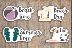 24 Beach Day, Vacation, Summer, Sandel, Palm Tree, Tropical Vacation Sampler Icon Planner Stickers for 2018 inkWELL Press Planners IWP-Q238