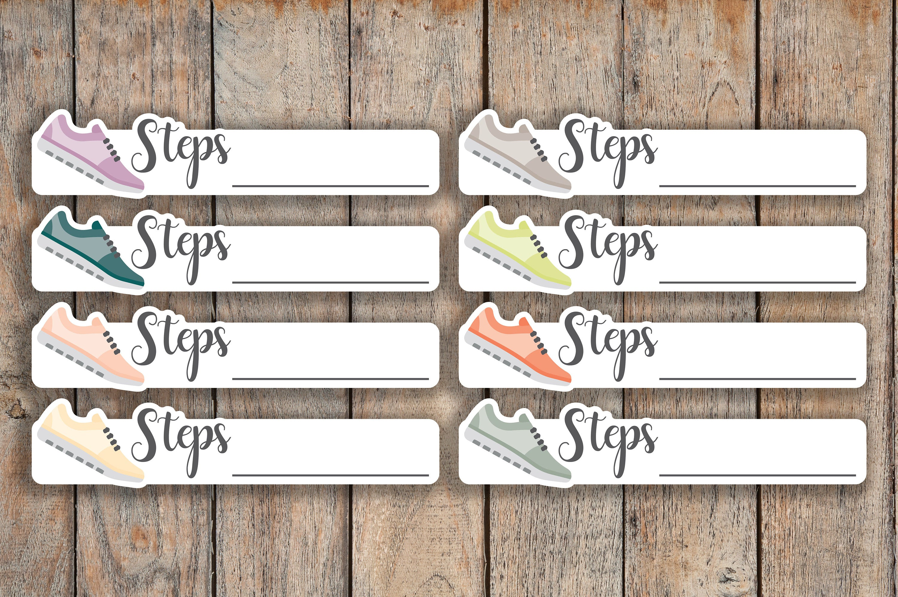 30 Fitness, Running Shoe, Today's Workout, & Step Icon Planner Stickers for 2018 inkWELL Press Planners IWP-Q241