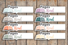 24 Book, Reading, Studying, Pages Read, Journal, Plan, Bible Icon Planner Stickers for 2018 inkWELL Press Planners IWP-Q248