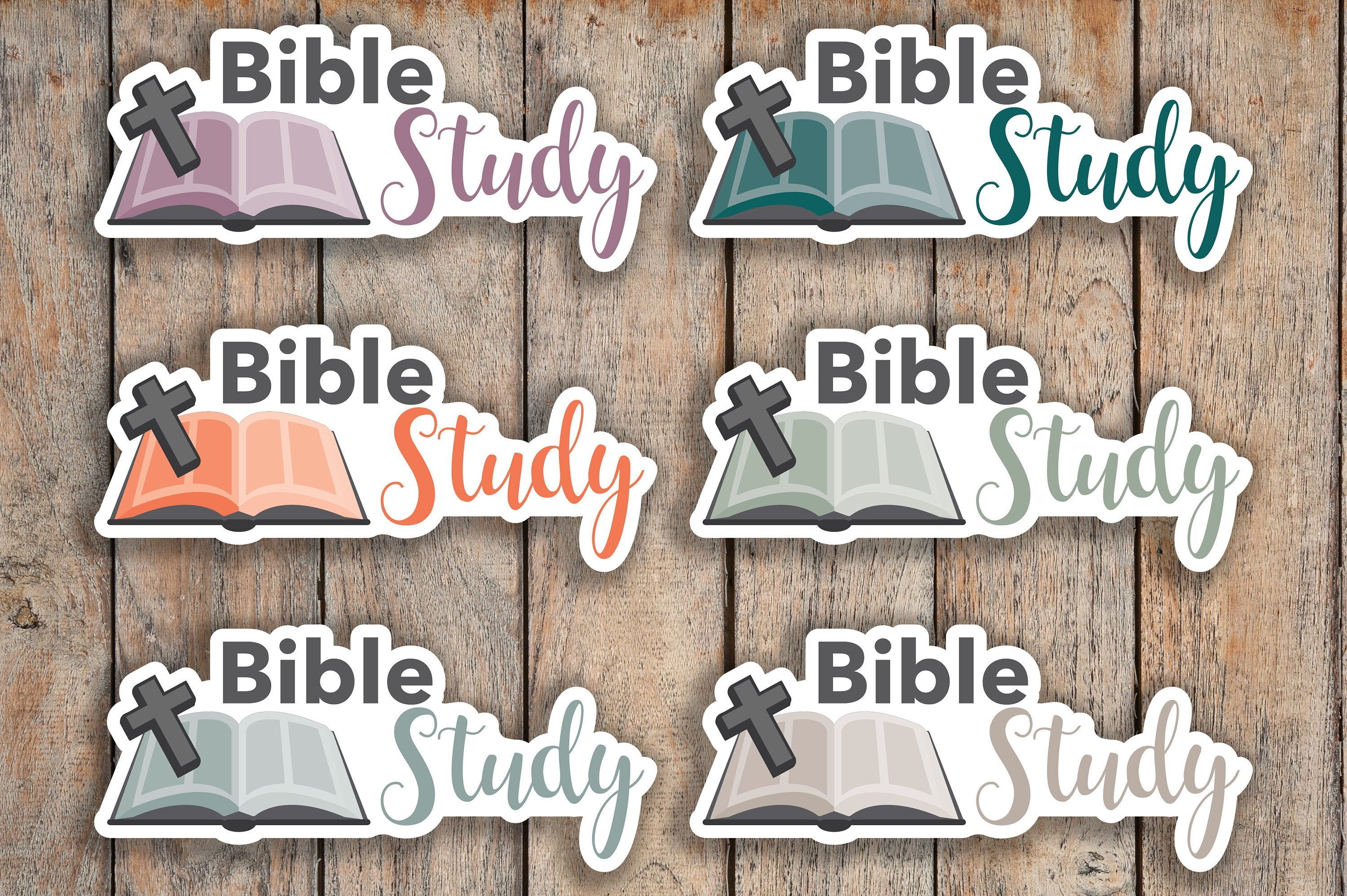 28 Bible Study, Church, Religious, Reading, God, Books Icon Planner Stickers for 2018 inkWELL Press Planners IWP-Q250