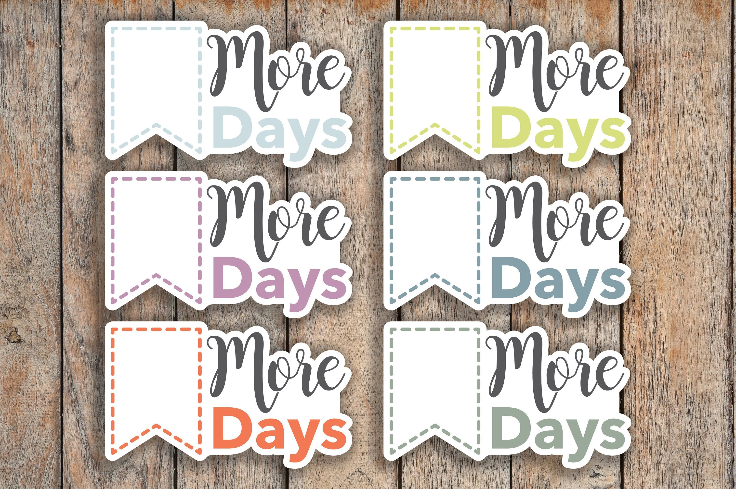 24 Countdown Flag, Days Until, More Days, Important Day Tracker Countdown Box Planner Stickers for 2018 inkWELL Press Planners IWP-Q198