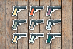 49 Gun, Pistol, 1911, Handgun, Weapon, Firearm, Military Icon Planner Stickers for 2018 inkWELL Press Planners IWP-Q199