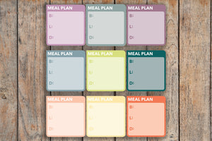 12 Meal Plan | Breakfast, Lunch & Dinner, BLD| Box Planner Stickers for 2018 inkWELL Press Planners IWP-L52