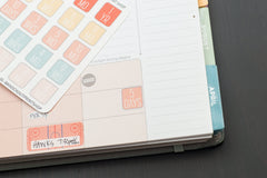 30 1 Year, Month, Week, Day Countdown Box Planner Stickers for 2018 inkWELL Press Planners IWP-Q208