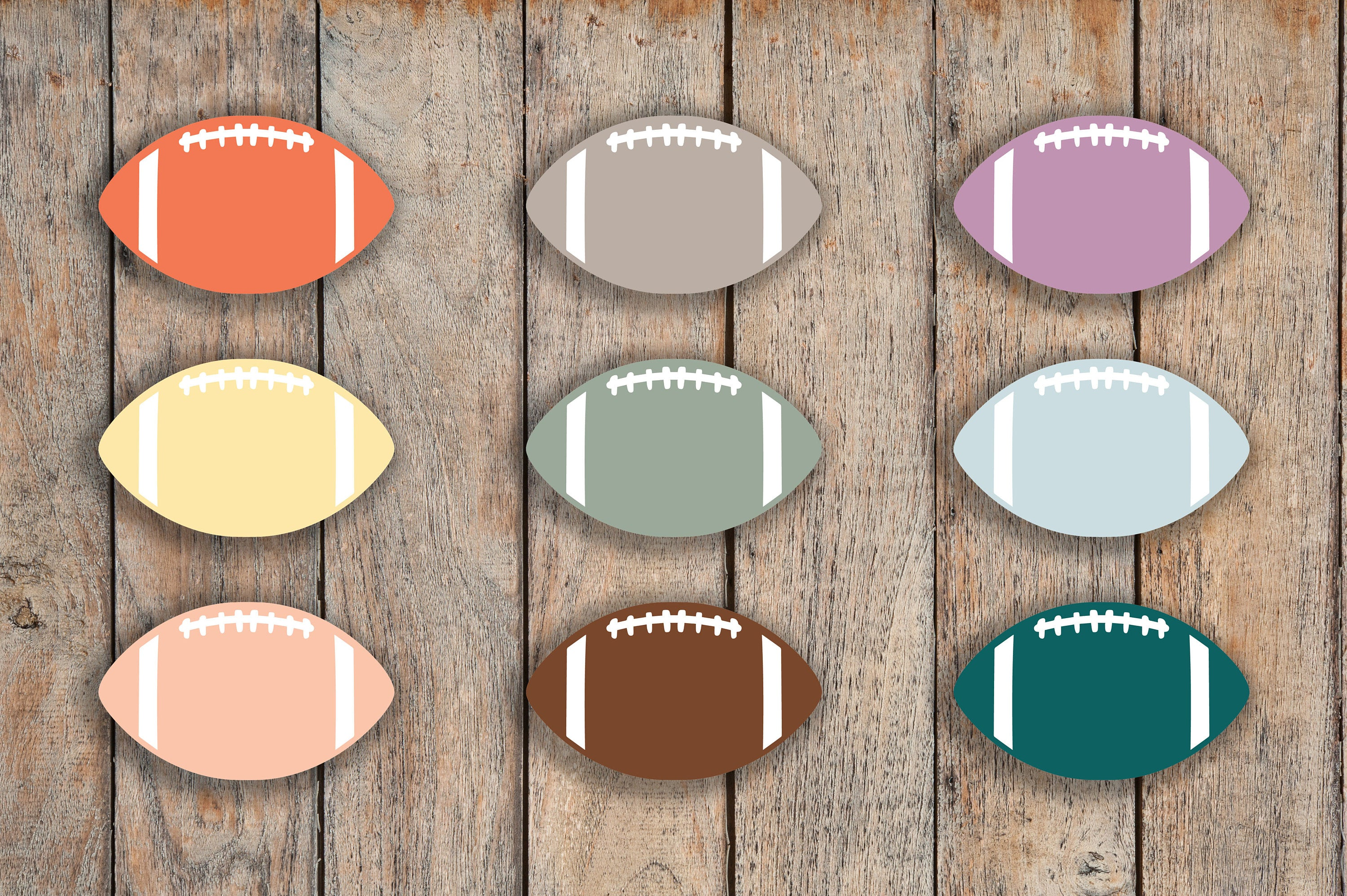 64 Football, Game Day, Sport Label Planner Stickers for 2018 inkWELL Press Planners, Erin Condren, Plum Paper IWP-Q216