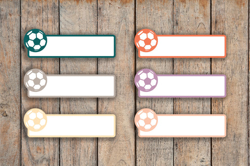 21 Soccer/Football Sports Label Planner Stickers for 2018 inkWELL Press Planners, Erin Condren, Plum Paper IWP-Q217