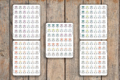 42 Physical Therapy, Therapy, PT, Exercise Medicine, Sports Medicine Icon Planner Stickers for 2018 inkWELL Press Planners IWP-Q226