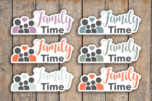 28 Family Time, At Home, Family Activity, Game Night Planner Stickers for 2018 inkWELL Press Planners IWP-Q229