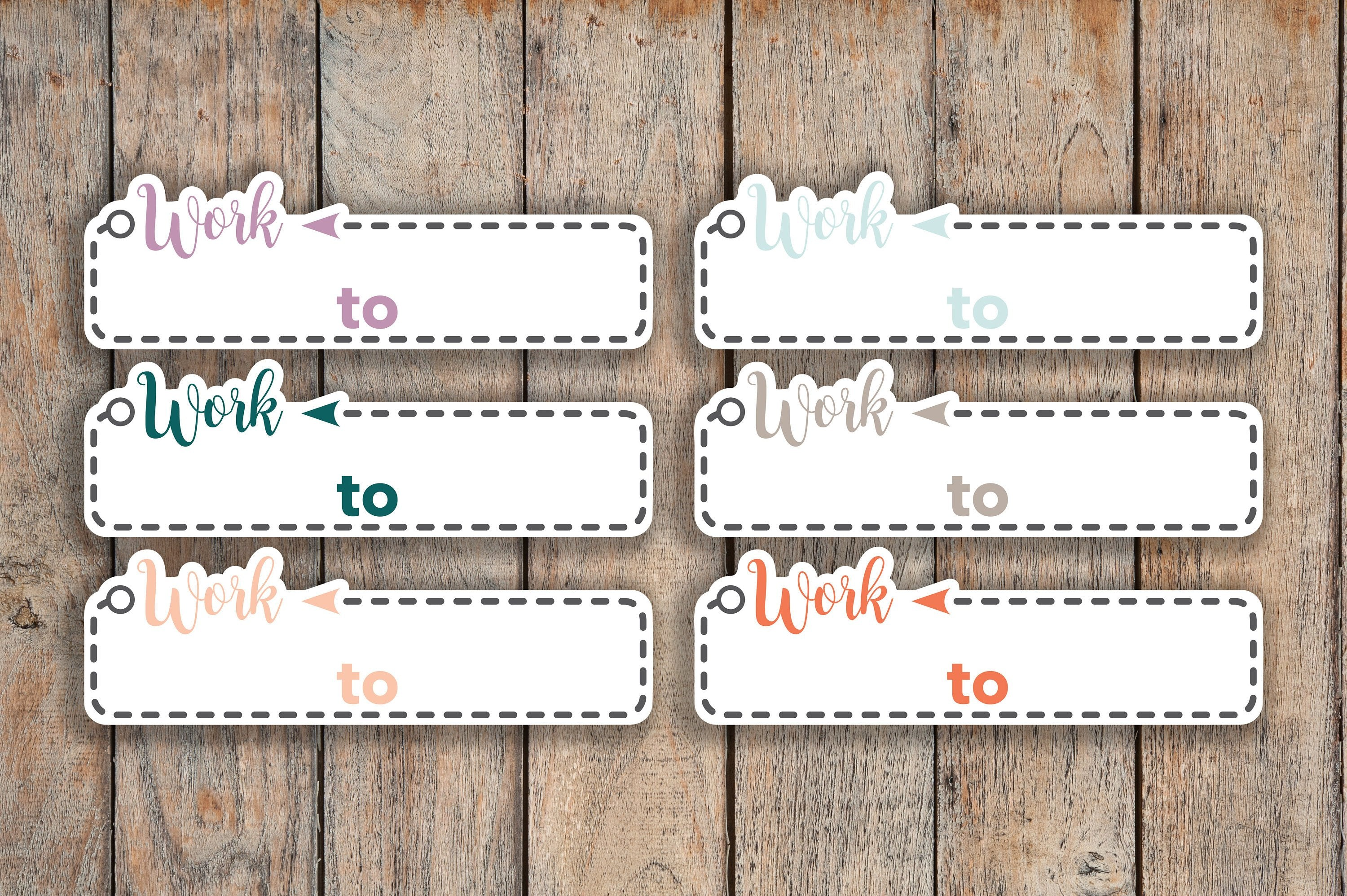 21 Work Time, Important, Don't Forget Box, Dash Box Icon Planner Stickers for 2018 inkWELL Press Planners IWP-Q257