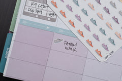 72 Fitness, Running Shoe V2, Workout, & Step Icon Planner Stickers for 2018 inkWELL Press Planners IWP-Q258