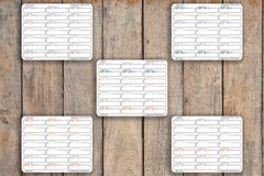 21 Bill Due Box, Bills, Important, Dash Box Icon Planner Stickers for 2018 inkWELL Press Planners IWP-Q242