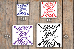 You Got This Arrow Decal for Motivation, Good Job, Support for inkWELL Press Planner, Erin Condren Planners