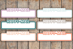 21 Happy Mail Boxes, Order Shipped Boxes, In Transit Planner Stickers for 2018 inkWELL Press Planners IWP-Q271