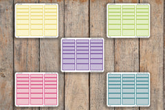 21 Striped Time Block Interval Sampler | 60, 90, 120 Minutes | For 2018 Passion Planner Pro Planners PQ2