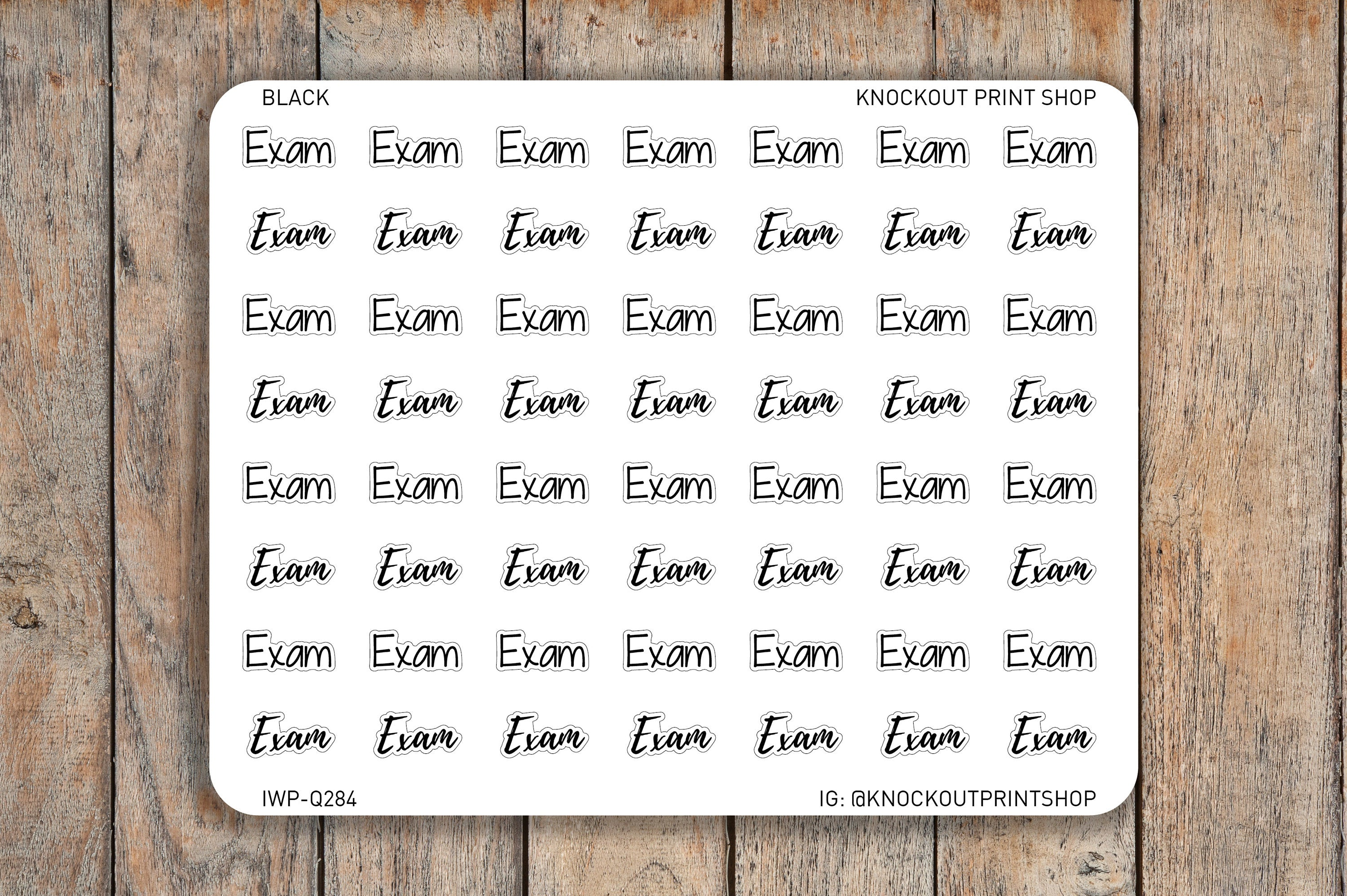 64 Exam Script / Bubble Word Planner Stickers for Erin Condren, Passion Planner, inkWELL Press Planners IWP-Q284